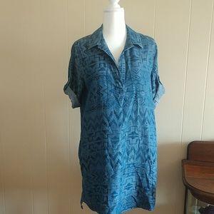 Philosophy denim tribal print dress